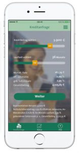 Handy-Screen_Kredit per App mit Creditplus4Now